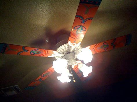 Painted Ceiling Fans by Painted Ceiling Fan For The Home