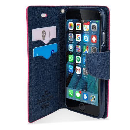 Goospery Original Fancy Iphone 6 6s mercury goospery fancy diary iphone 6s 6 wallet pink navy