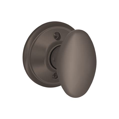 Rubbed Bronze Dummy Door Knob by Shop Schlage F Siena Rubbed Bronze Dummy Door Knob At