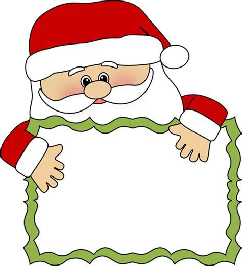 clipart santa santa sign clip santa sign image