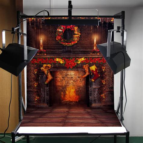 Fireplace Prop by New 5x7ft Fireplace Photography Background Photo