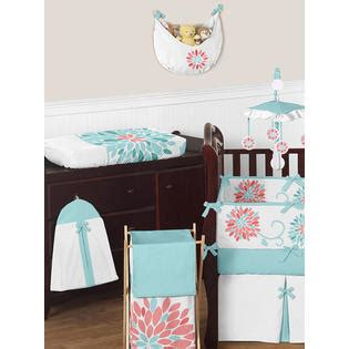 turquoise and coral bedding sweet jojo designs turquoise and coral emma baby bedding