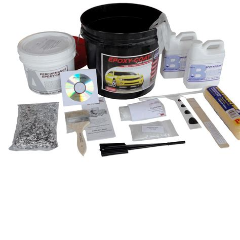 Garage Epoxy Kit by Shop Epoxy Coat 2 Part Safety Yellow High Gloss Epoxy