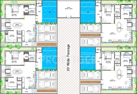 Beach House Layouts 2500 sq ft 3 bhk 3t villa for sale in anmol shrusti pvt