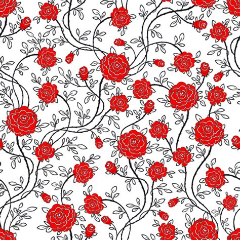 red pattern vector red flower seamless patterns vector vector flower