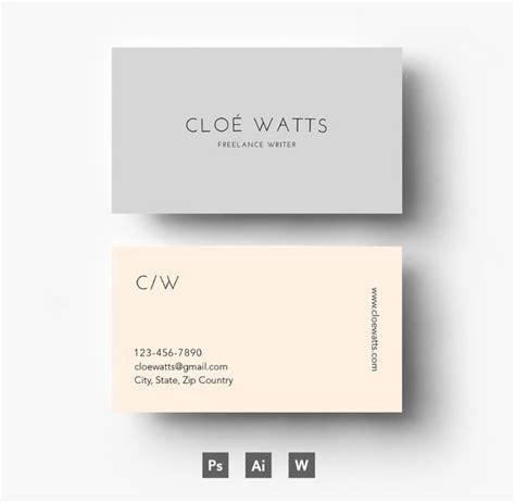 network marketing business card templates modern business card template by emily s boutique on