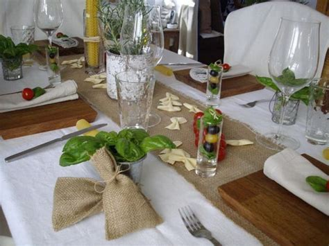 table decoration ideas celebrating italian theme