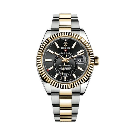 Rolex Classical Combi Black Gold rolex sky dweller 326933 yellow gold stainless steel black world s best