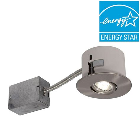 Light Fixture Clearance Bazz 2 5 In Brushed Chrome Led Recessed Lighting Fixture