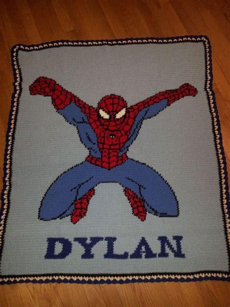 knitting pattern for spiderman blanket crochet spiderman afghan crochet afghans pinterest