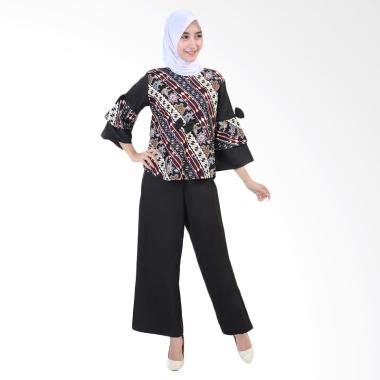 Stelan Blouse Batik Dan Celana Kulot Ayu jual daily deals jfashion blouse batik dan celana kulot