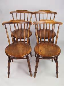 Antique Kitchen Furniture by Set 4 Antique Pine Kitchen Chairs 267710