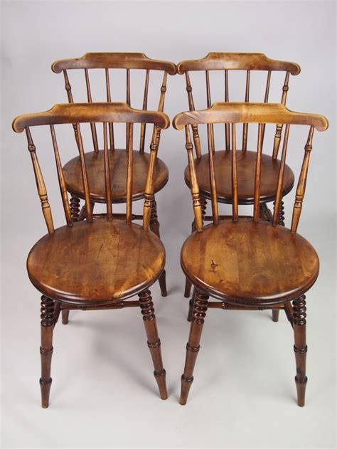 Vintage Kitchen Furniture by Set 4 Antique Pine Kitchen Chairs 267710