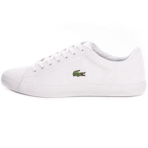 Lacoste Lerond Trainers In White lacoste lerond 216 1 mens trainers in white