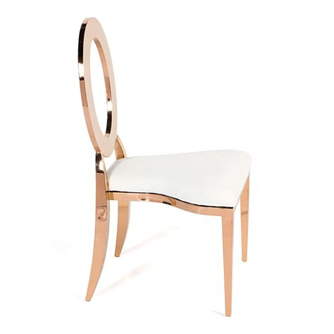 Gold Dining Chairs O Chair Gold Ivory High Style