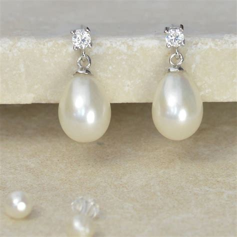pearls jewelry drop pearl earrings by tigerlily jewellery