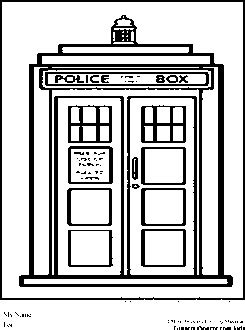 dr who coloring pages tardis coloring pages pinterest