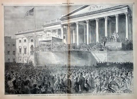 abraham lincoln inaugural address the inauguration of abraham lincoln at the us capitol in 1861