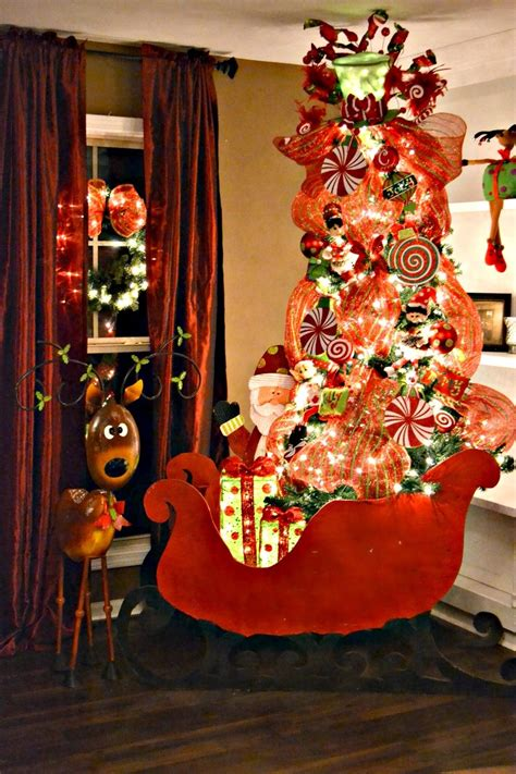 christmas tree deco mesh christmas sleigh christmas