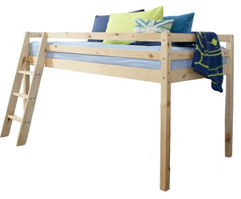 Wooden Sleeper by Cabin Bed Mid Sleeper Wooden Pine Bunk Bed 57nt Ebay