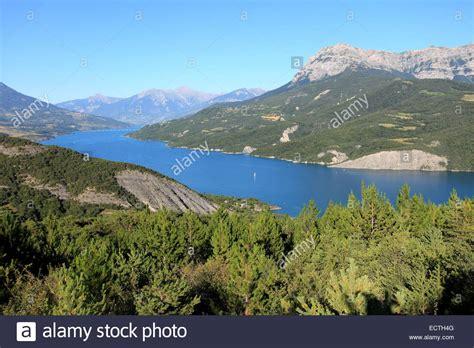 serre french serre poncon lake france summer stock photos serre