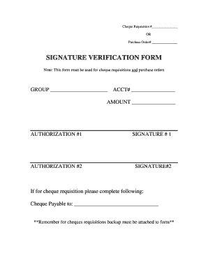 signature verification format fill printable