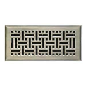 american valve 3 in x 10 in brass wicker floor register