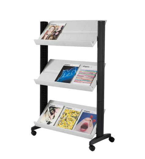 single sided literature display small in floor magazine