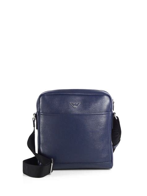 Bag Selempang Emporio Armani 3743 lyst emporio armani leather crossbody bag in blue for