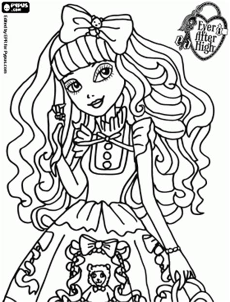 ever after high coloring pages royals blondie lockes a royal young girl in ever after high