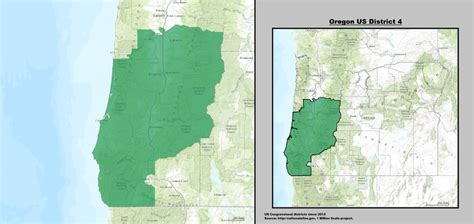 map of oregon 4th congressional district oregon s 4th congressional district