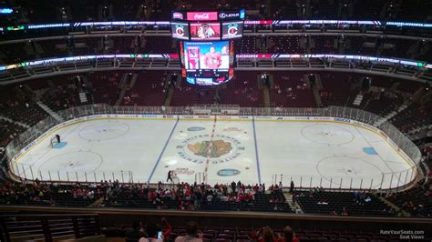 Chicago Blackhawks Winter Hat Giveaway - 300 level center united center hockey seating rateyourseats com