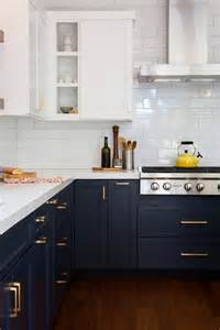 navy blue kitchen cabinets back to classic how to get a perfect interior design in blue