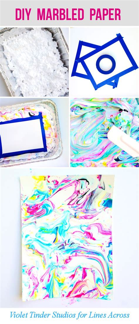 Marbled Paper Craft - such a craft project would make a summer