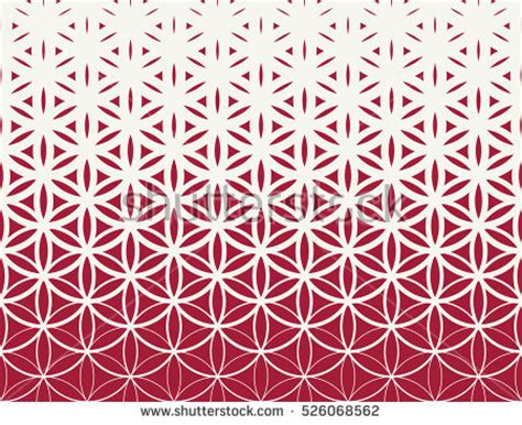 pattern flower of life abstract geometric black white graphic design stock vector