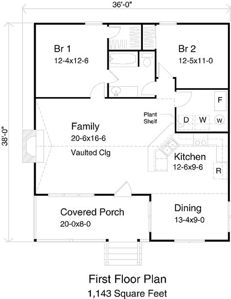 800 Sq Ft Apartment Floor Plan by Cabin Style House Plan 2 Beds 1 Baths 1143 Sq Ft Plan