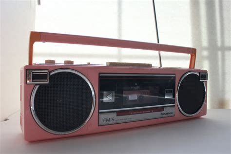 cassette radio player vintage pink panasonic radio cassette player