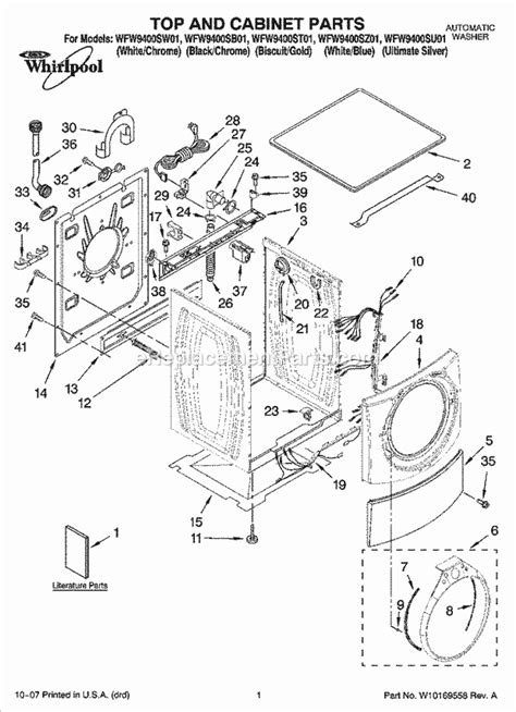 whirlpool ultimate care ii washer parts diagram whirlpool wfw9400sw01 parts list and diagram