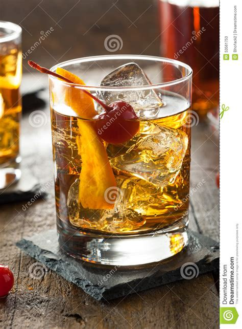 old fashioned cocktail illustration homemade old fashioned cocktail stock photo image 53561753