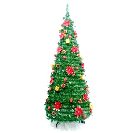 pop up christmas trees at walmart aleko instant pop up tree decorations included 5 foot walmart
