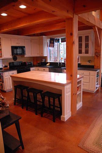 kitchen island with post post beam kitchen flickr photo
