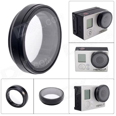 Gopro Lensa 30mm fpv protective uv lens for gopro 4 3 3 black free shipping dealextreme