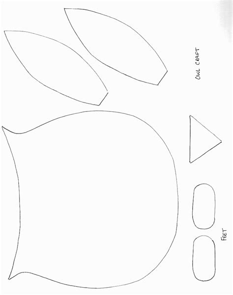 owl template printable birds crafts print your owl template all network