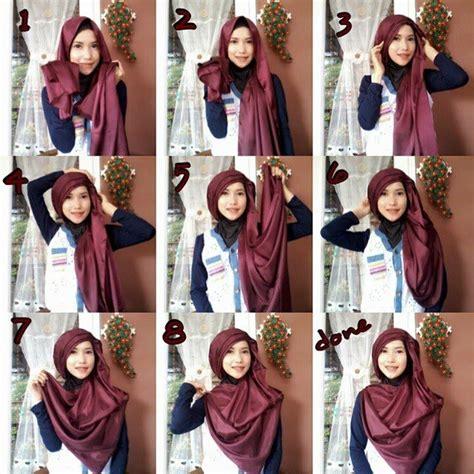 tutorial jilbab pashmina dasar licin 11 tutorial hijab menutup dada sopan anggun dan tetap