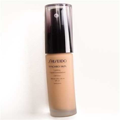 Shiseido Foundation sponsored shiseido synchro skin lasting liquid foundation