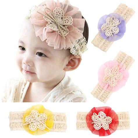 lace flower children bebe baby headband elastic newborn headband bows hair band hair