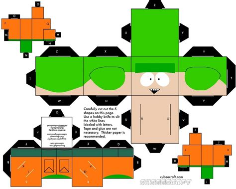 Cubee Papercraft - cubee south park kyle by njr75003 on deviantart