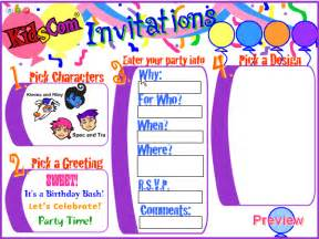 birthday invites create birthday invitations free images for inspiration how to make