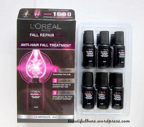 Shoo Loreal Anti Hair Fall with l oreal fall repair 3x anti hair fall leave