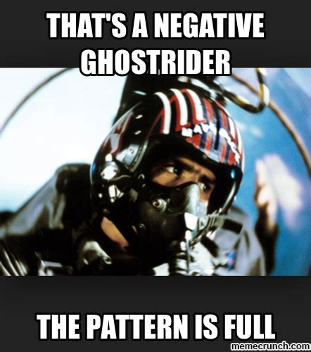 top gun quotes pattern is full that s a negative ghostrider